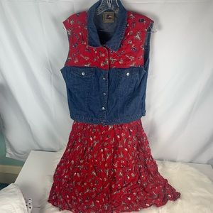 Cowgirl western Halloween costume adult size L